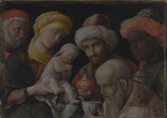 Mantegna, Andrea: Adoration of the Magi. Fine Art Print/Poster. Sizes: A4/A3/A2/A1 (004016)